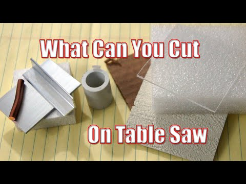 What can you cut on table saw