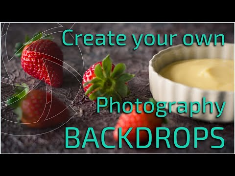 How to make backdrops for photography