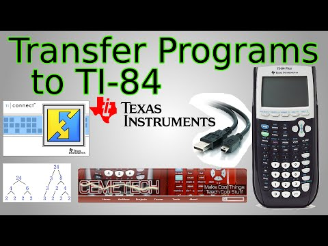 How to Transfer Programs to TI-84 (TI Connect, CemeTech)