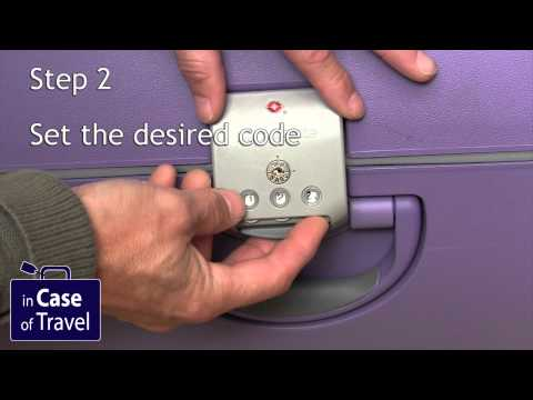 How to change the code on the a Samsonite suitcase like Samsonite Termo