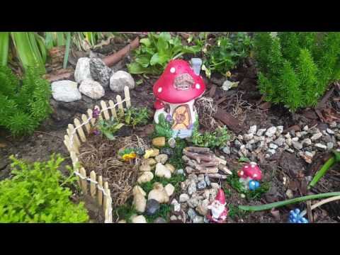 My fairy garden village using dollar tree products