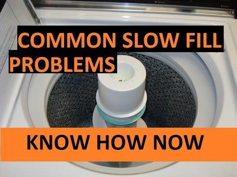Washing Machine Fills Slowly - Troubleshoot It