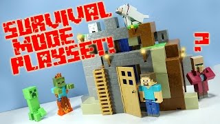 Minecraft Survival Mode Playset from Mattel Toys Huge!