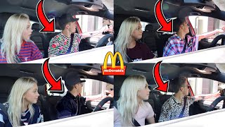 Driving Through The SAME McDonald's Drive Thru Wearing DIFFERENT Clothes...