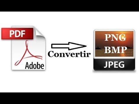 Convertir PDF en JPEG, JPG, PNG, BMP…