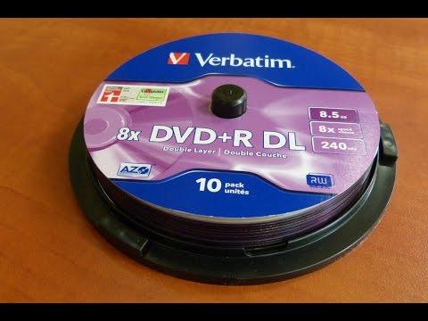 Verbatim  DVD+R DL Unboxing  8.5GB