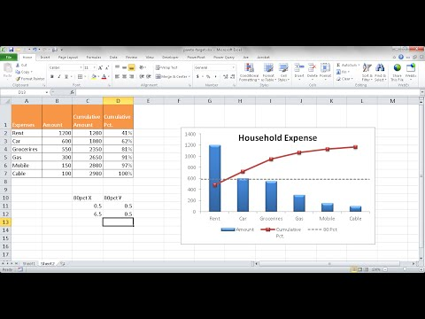 Create a Pareto Chart with a Target Line