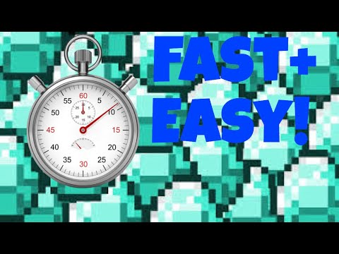 2018 The FASTEST And EASIEST Way To Find Diamonds in Minecraft! (In under 10 mins!)