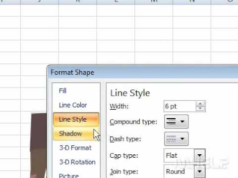 How to change the color of a line in a spreadsheet
