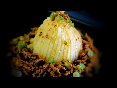 Pork in Oyster Sauce on Creamy Mash (Chinese Style Cooking Recipe)