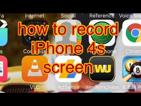 How to record iPhone 4s screen