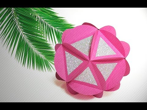 DIY Paper ball. Gorgeous Christmas ornament and room decoration