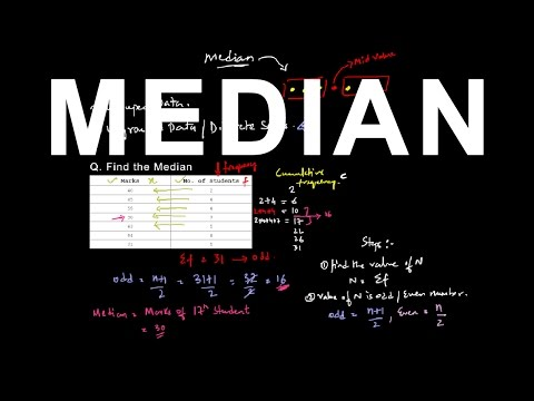 Finding median of a ungrouped data - Part 1 | Statistics
