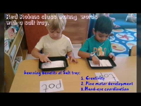Teach your preschooler to write their own name! (Dubai sand tray writing method)