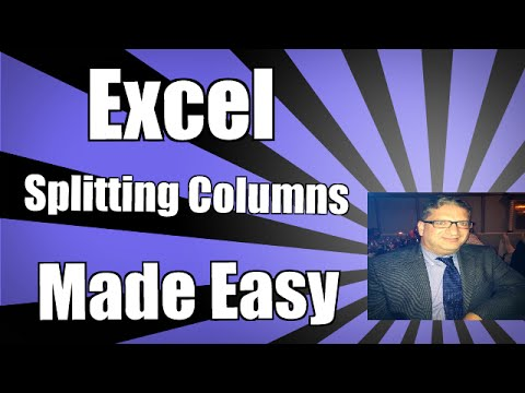 Excel Separating Columns Splitting Names Into Separate Columns In Excel Text To Columns 2016 2013
