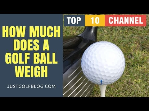 How Much Does a Golf Ball Weigh in Pounds, in Grams | Golf Ball Weight and size