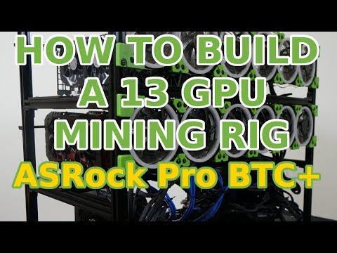 How to Build a 13 GPU Mining Rig: ASRock H110 Pro BTC+ rx580 p106 Ethereum Zcash