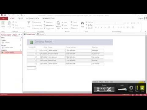 How to build,store and retrieve Phone Contacts info database using Microsoft Access