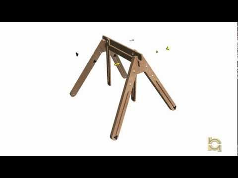 Adjustable Sawhorse Assembly