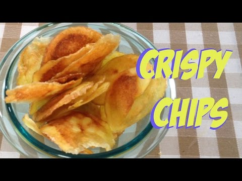 Crispy Potato Chips in 5 minutes #fastmicrowave