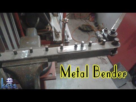 DIY Metal Bender for bending reinforcing steel, rod, round, flat, square, bars. Κουρμπαδόρος