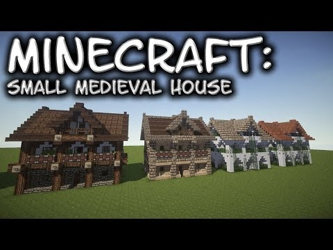 Minecraft: Small Medieval House Tutorial 1