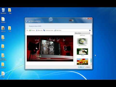 How to put or burn files onto a DVD Disc (Windows DVD Maker Tutorial)