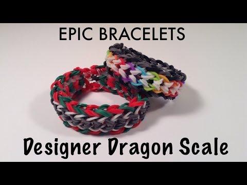 Designer Dragon Scale Bracelet - Rainbow Loom Tutorial