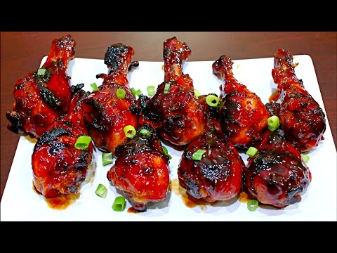 Honey Garlic Chicken Drumsticks Recipe - Easy and delicious chicken recipe