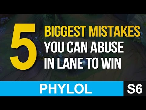 5 biggest mistakes you can abuse in lane to win - League of Legends