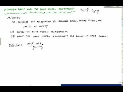Allowable Stress and Design of Simple Connections (1/2) - Mechanics of Materials