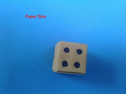 How to make a paper Dice How do you make a paper dice ORigami for kids and beginnars