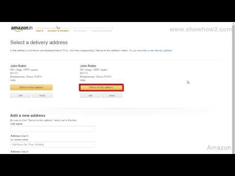 Amazon - How To Place An Order Through Credit Card