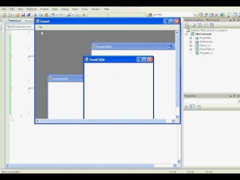 [C#] Multiple Document Interface (MDI)