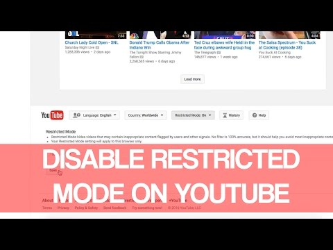 How To Disable Restricted Mode On Youtube 2016