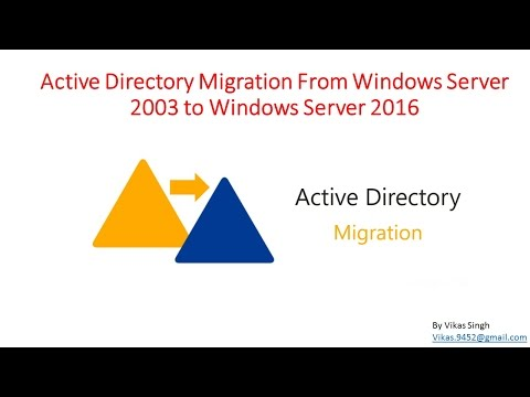 Active Directory Migration From Windows Server 2003 to Windows Server 2016