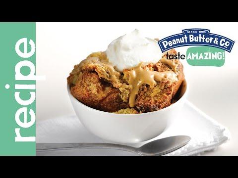 White Chocolate Peanut Butter Bread Pudding Recipe