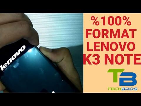 How to Format Hard Reset Lenovo K3 Note - DetailingDude com