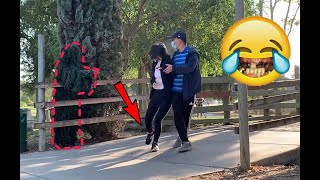 She Ran For Her Life! | Funny Bushman Scare Prank Reactions | Try not to laugh