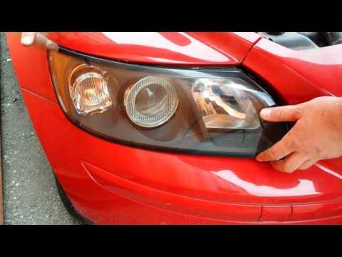 How to replace front headlight headlamp light bulbs on a 2004 2005 2006 and up volvo s40 v50 c30 c70