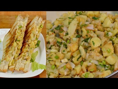 Crispy Potato Sandwich Recipe - Spicy Potato Sandwich - Aloo Ka Sandwich Indian Recipe