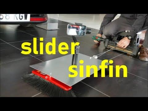 Como construir slider dolly motorizado de (largo recorrido) con materiales reciclados.