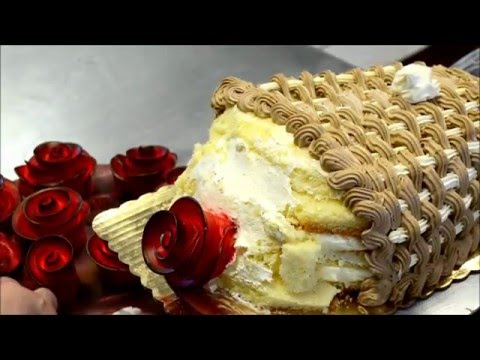 How to make a birthday cake in shape of bouquet cake Tutorial