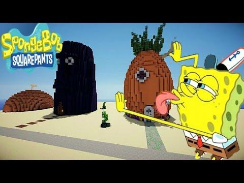 Minecraft Pe - Spongebob Bikini Bottom Map Showcase - SpongeBob Actually Lives In The MAP!!!
