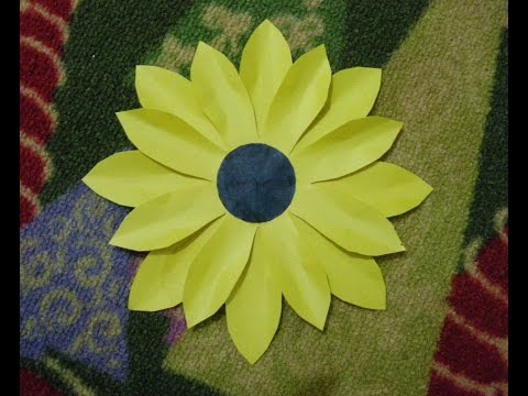 How To Make a Paper Flower Tutorial (SUNFLOWER) Paper Crafts.