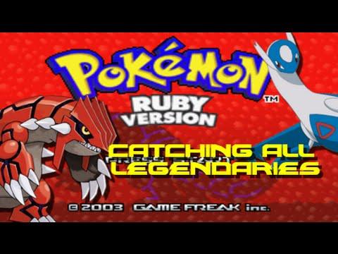 Pokemon Ruby: ALL Legendary Captures!!!