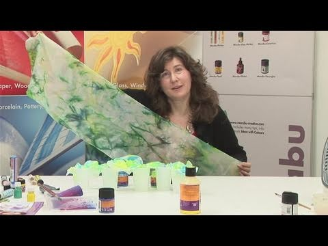 How To Apply Colours To Silk Scarf