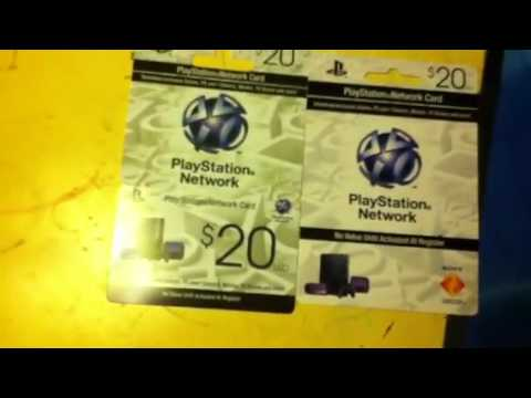 Free playstation network cards