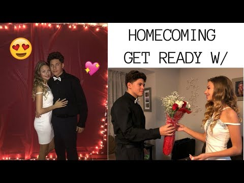 GRWM: HOMECOMING 2017!!  MY DATE, HAIR, NAILS + MAKEUP :)