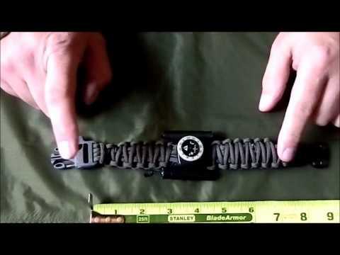 A different paracord survival bracelet. Part 1
